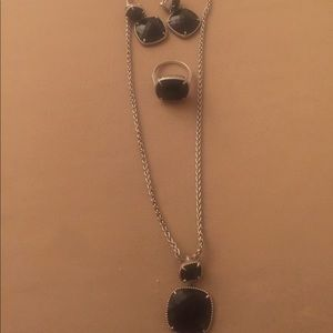 Effy necklace, earrings and ring
